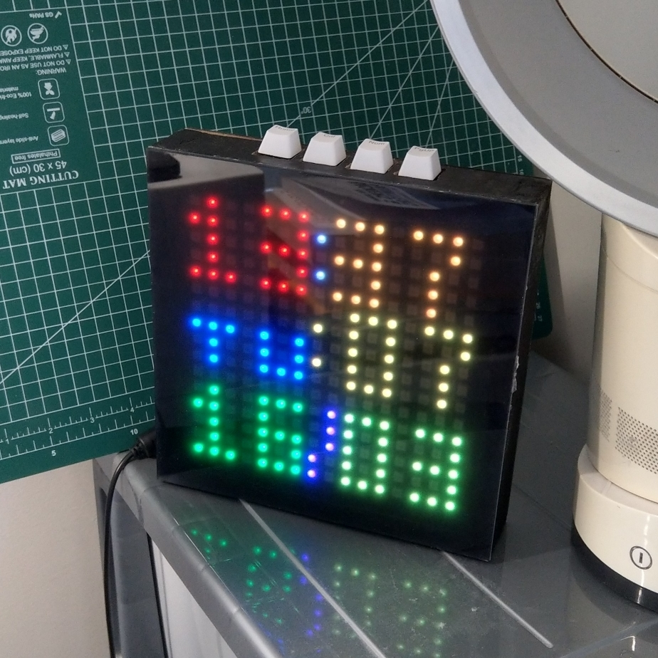 LED clock displaying time